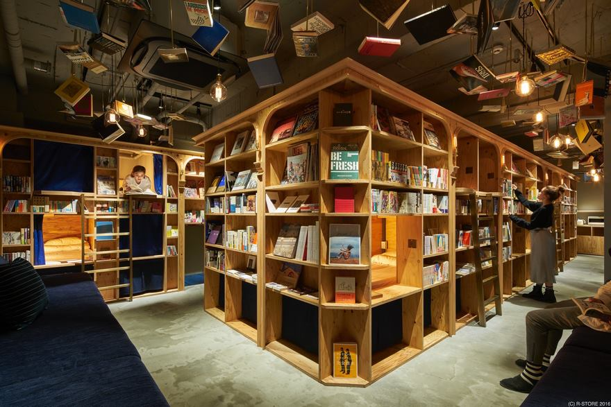 Хостел-библиотека Book and Bed Kyoto (7)