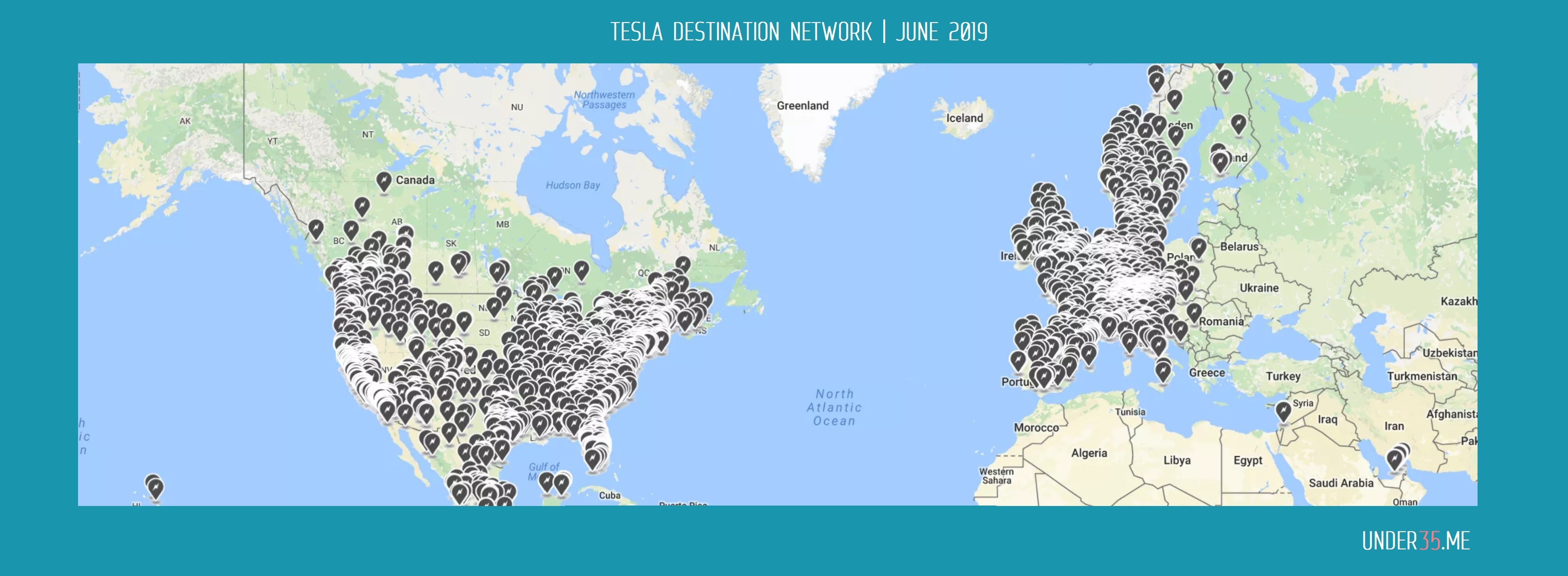 Tesla Destination Network map